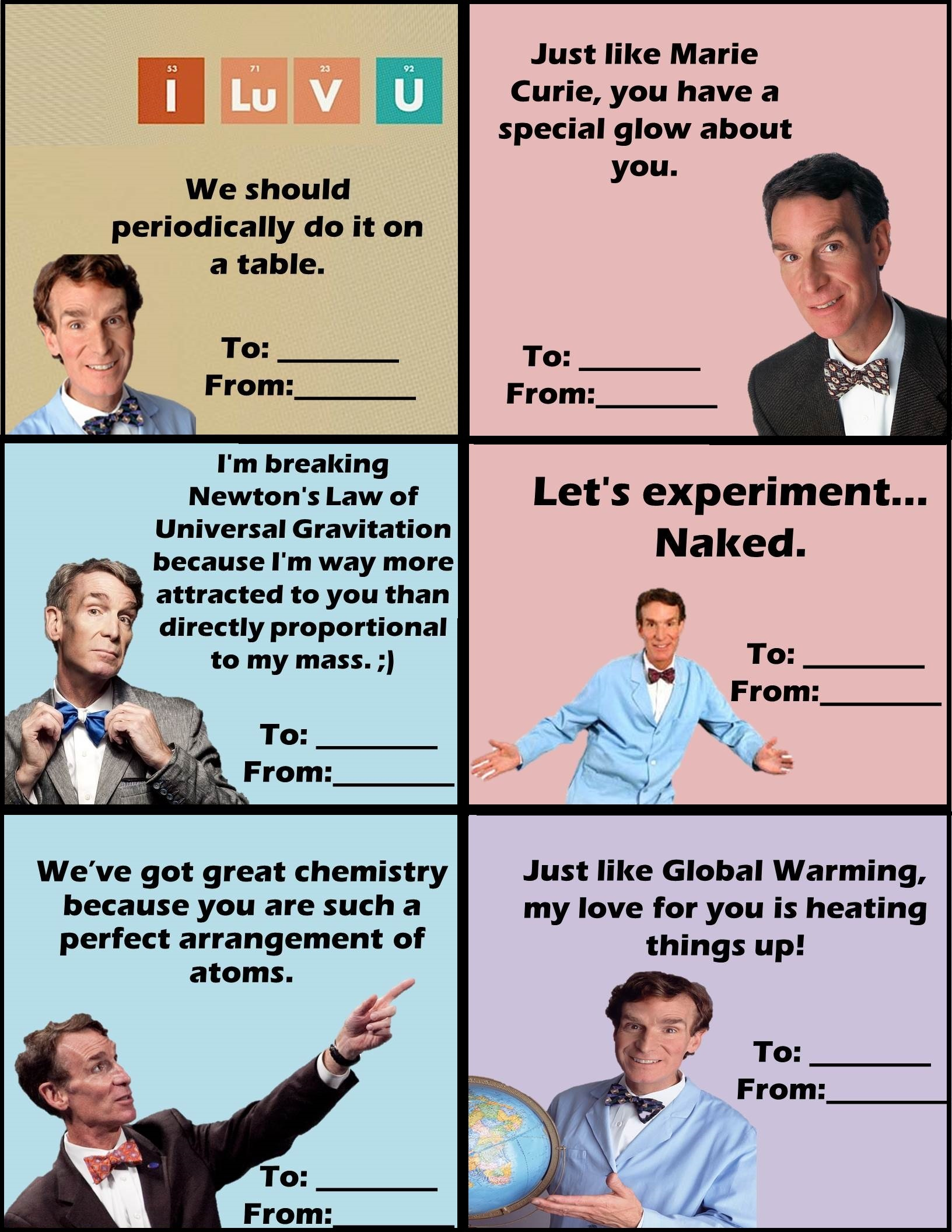Bill Nye The Science Guy Valentines