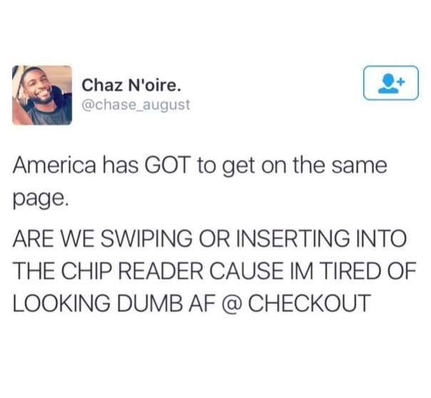 Swipe or chip?