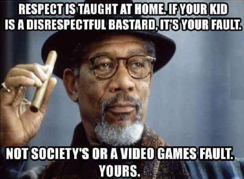 Where is respect taught?