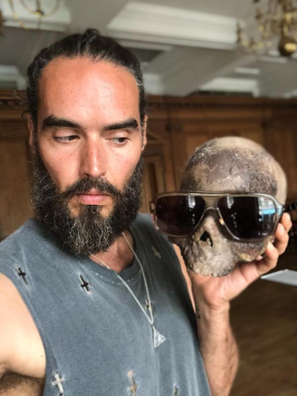 Russell Brand and friend