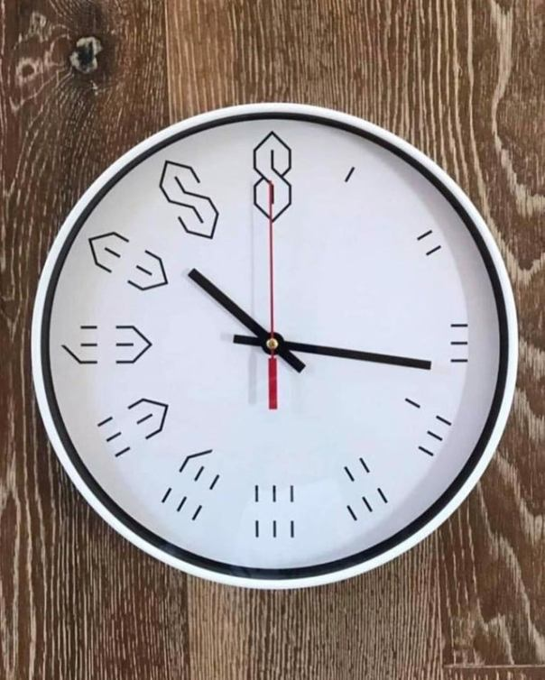 Old School S Clock