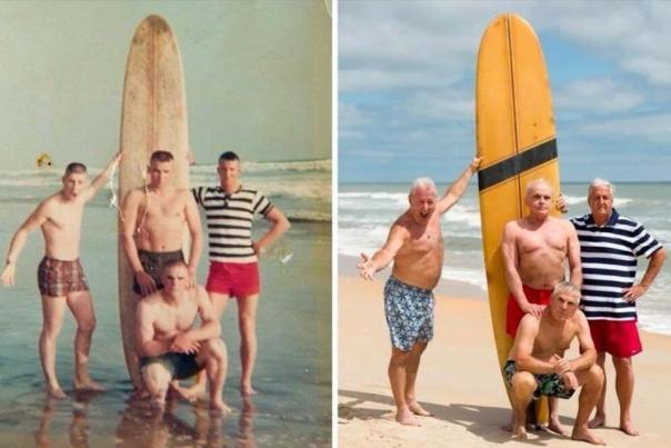 War Vets Recreate Photo 50 Years Later
